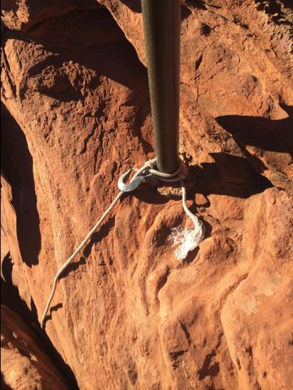 Sandstone rock anchor